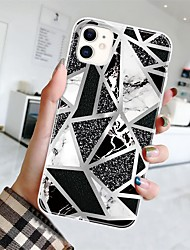 cheap -Marble Case For Apple iPhone 12 Pro Max 11 SE2020 iPhone 12Mini Fashion Protective Case Decent Mobile Phone Case Ultra-thin  Pattern Back Cover Geometric iPhone Case Pattern Marble TPU