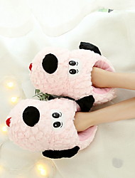 cheap -Women's Slippers House Slippers Casual Terry Animal Print Shoes