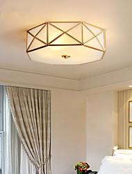 cheap -3-Light All-copper American Ceiling Lamp Rural Household Modern Simple Living Room Lamp Study Lamp Bedroom Lamp 1248-3