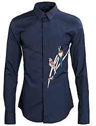 cheap -Men's Daily Shirt - Animal Light Blue