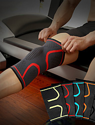 cheap -AOLIKES Protective Gear Knee Brace for Fitness Running Compression Stretchy Anti Slip Men Women Silica Gel Latex Nylon Black Light Green Light Red