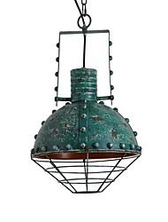 cheap -1-Light 33 cm Creative Pendant Light Metal Industrial Painted Finishes Artistic Vintage 110-120V 220-240V