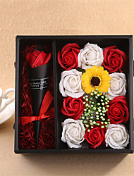 cheap -Valentine's day gift for mother's day rose soap flower gift box imitation flower birthday gift