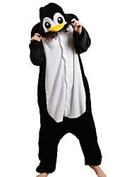 cheap -Adults' Kigurumi Pajamas with Slippers Penguin Animal Onesie Pajamas Coral fleece Black / White Cosplay For Men and Women Animal Sleepwear Cartoon Festival / Holiday Costumes