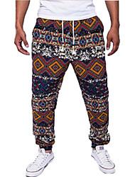 cheap -Men's Sporty / Basic Chinos Pants - Print Blue Royal Blue Red US34 / UK34 / EU42 US36 / UK36 / EU44 US38 / UK38 / EU46
