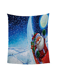 cheap -Christmas Eve Hot Foreign Trade Blanket Ready Made Winter Thickened Warm Coral Throw Blanket