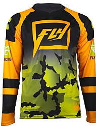 cheap -Fly speed reduced speed dry sweat wicking long sleeve mountain bike riding Motorcycle Jersey top DH cross country T-shirt breathable