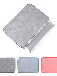 cheap -2019 Waterproof PU Leather Laptop Sleeve Case For Macbook Pro Air 13 14 15 inch Notebook Computer PC Cover Pouch for Dell HP