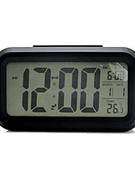 cheap -Forestime Battery Operated Clock, Mute Multi-Function Digital Alarm Clock with Temperature Calendar Display and Smart Sensor Backlight, Perfect for Home, Office, and Kids