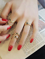 cheap -Ring Set Cut Out Gold Alloy Precious Fashion 4pcs Adjustable / Women's / Open Ring / Adjustable Ring