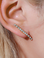 cheap -Women's Ear Piercing Earrings Solitaire Number Earrings Jewelry Gold / White / Gold For Gift Daily Street Bar Festival