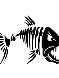 cheap -2pcs 17.8*12.6CM Mad Fish Funny Decal Car Window Decoration Vinyl Stickers Motorcycle Accessories