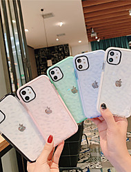 cheap -Case For Apple iPhone 11 / iPhone 11 Pro / iPhone 11 Pro Max Translucent Back Cover Solid Colored TPU