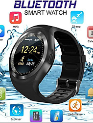 cheap -Smartwatch Digital Modern Style Sporty PU Leather 30 m Water Resistant / Waterproof Bluetooth Smart Digital Casual Outdoor - Black White Blue