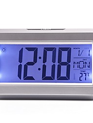 cheap -Digital Dual Alarm Clock, Alarm, Calendar, Indoor Temperature, Smart Sensor Light