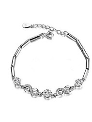 cheap -Women's Chain Bracelet Geometrical Flower Fashion Copper Bracelet Jewelry Silver For Gift Daily