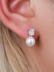 cheap -Women's Ear Piercing Drop Earrings Earrings Classic Ball Pearl Earrings Jewelry White For Party Engagement Daily Work Festival