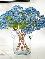 cheap -3pcs Simulation Flower Hydrangea Home Decoration Living Room Dining Table Bouquet 32cm
