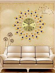 Недорогие -Роскошный искусственный кристалл алмаза большие настенные часы металлический гостиная настенные часы украшения дома искусства