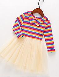 cheap -Kids Girls' Striped Dress Light Blue