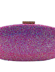 cheap -Women's Bags Alloy Evening Bag Glitter Crystals Wedding Bags Wedding Party Event / Party Blue Fuchsia Champagne Green