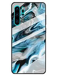 cheap -Case For Huawei Huawei P20 lite / Huawei P30 / Huawei P30 Pro Pattern Back Cover Marble Tempered Glass