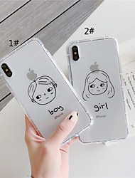cheap -Case For Apple iPhone 11 / iPhone 11 Pro / iPhone 11 Pro Max Shockproof / Transparent Back Cover Word / Phrase / Cartoon TPU