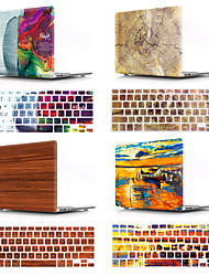 "cheap -MacBook Case Wood Grain / Word / Phrase / Oil Painting Plastic for New MacBook Pro 15-inch / New MacBook Pro 13-inch / New MacBook Air 13"" 2018"