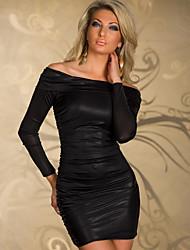cheap -Women's Bodycon Dress - Solid Colored Black Purple Blue M L XL