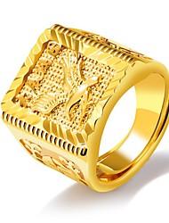 cheap -Men Band Ring Stylish Gold 18K Gold Plated Eagle Streetwear Hip Hop Adjustable / Men's