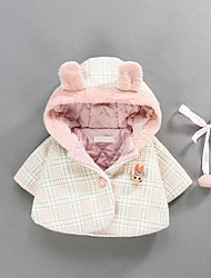 Недорогие -малыш Девочки Классический В клетку Куртка / пальто Розовый