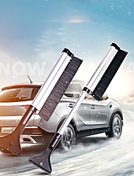 cheap -1pcs Portable Snow Ice Scraper Extendable Telescoping Snow Brush Shovel Ice Scraper for Car Motorcycle Truck