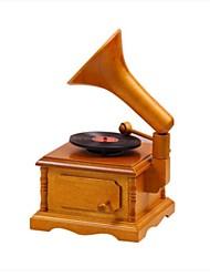 abordables -bois brun créatif boîte de musique romantique pour le cadeau
