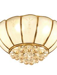 cheap -Lightinthebox 4-Light Crystal Flush Mount Lights Ambient Light Brass Copper Glass Adorable 220-240V