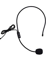 cheap -New Lightweight Portable Microphone Headphone with 3.5mm Cable Conference Guide Connector Headset Microphone for Meeting Teaching