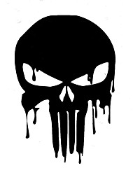 cheap -10.1CMX15CM Bloody Punisher Skull Personalized Car Stickers Vinyl Decorative Decals