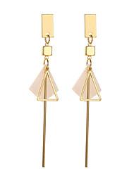 cheap -Women's Drop Earrings Earrings Geometrical Mini Earrings Jewelry Black / Gold / Gold / White For Gift Daily Carnival Bar Festival