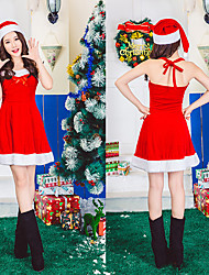 cheap -Mrs.Claus Dress Women's Adults' Costume Party Christmas Christmas Velvet Dress / Hat