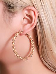 cheap -Women's Ear Piercing Hoop Earrings Earrings Braided Donuts Earrings Jewelry Gold / White / Gold For Anniversary Carnival Holiday Club Bar