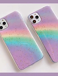 cheap -Case For Apple Scene map iPhone 11 X XS XR XS Max 8 The New Colorful rainbow pattern laser Gold leaf Glue Craft TPU Material phone case SH