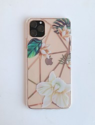 cheap -Case for Apple scene map iPhone 11 11 Pro 11 Pro Max X XS XR XS Max 8 Flower pattern inside and outside plating TPU material IMD process all-inclusive mobile phone case