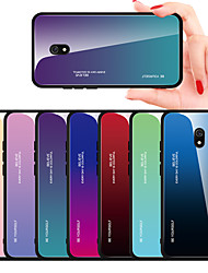 cheap -Case For Xiaomi scene map Redmi 8 Redmi 8A colorful gradient tempered glass back plate TPU frame 2-in-1 mobile phone case JMGD