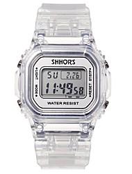 Недорогие -Девочки электронные часы На каждый день Мода Белый Plastic Китайский Цифровой Белый Желтый Синий Светодиодная лампа 30 m 1 ед. Цифровой Один год Срок службы батареи