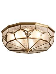 cheap -Lightinthebox 6-Light 60 cm Flush Mount Lights Copper Glass Brass Artistic / Traditional / Classic 220-240V