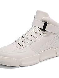 cheap -Men's Comfort Shoes Mesh Fall & Winter Boots Booties / Ankle Boots Black / Beige / Khaki