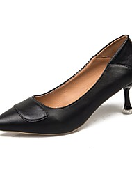 cheap -Women's Heels Stiletto Heel Pointed Toe Faux Leather / PU Casual / Minimalism Spring &  Fall / Spring & Summer Black / Brown / Red