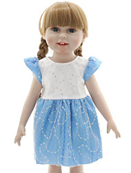 cheap -Girl Doll Fashion Doll Baby Girl 18 inch Eco-friendly Child Safe Non Toxic Easy dressing Hand Applied Eyelashes Tipped and Sealed Nails Kid's Girls' Toy Gift