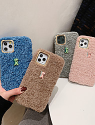 cheap -Case For Apple iPhone 11 / iPhone XR / iPhone 11 Pro Pattern Back Cover Plush / Animal TPU