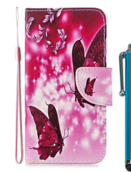 cheap -Case For Apple iPhone 11 / iPhone 11 Pro / iPhone 11 Pro Max Wallet / Card Holder / with Stand Two Butterflies PU Leather / TPU for iPhone 7 / 7 Plus / 8 / 8 Plus / X / XS / XR / Xs Max