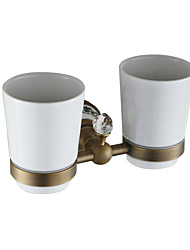 cheap -Double Toothbrush Holder Multifunction Antique Ceramic / Brass 1pc - Bathroom Wall Mounted